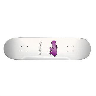 Cute purple hippo custom skateboard