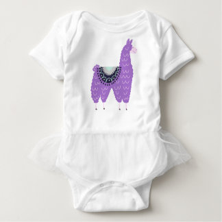 Cute Purple Llama Baby Bodysuit