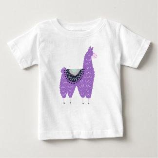 Cute Purple Llama Baby T-Shirt