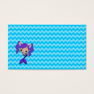 Cute Purple Mermaid Business Card