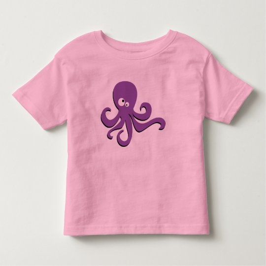 Cute purple octopus toddler t-shirt