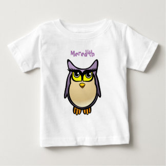 Cute Purple Owl Baby T-Shirt