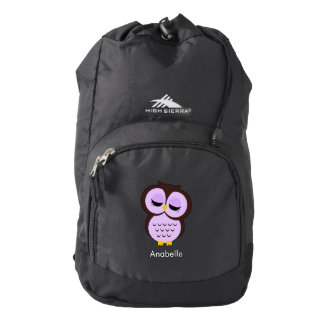 Cute Purple Owl Backpack