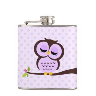Cute Purple Owl Flasks