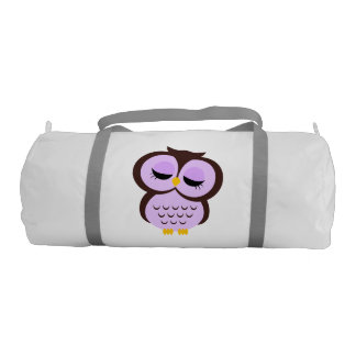 Cute Purple Owl Gym Bag