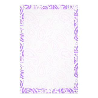 Cute Purple Paisley Stationery