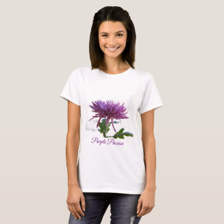 Cute Purple Passion Floral T-shirt by Yotigo