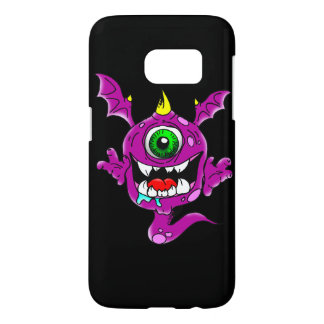 Cute Purple People Eater Monster Samsung Galaxy S7 Case