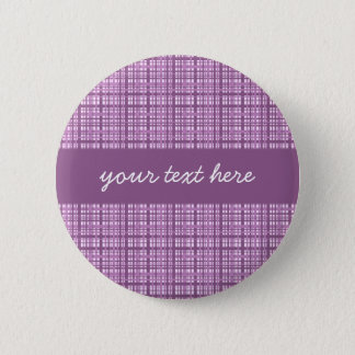 Cute purple plaid 2 inch round button