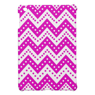 Cute Purple Polkadot Zigzags iPad Mini Cover