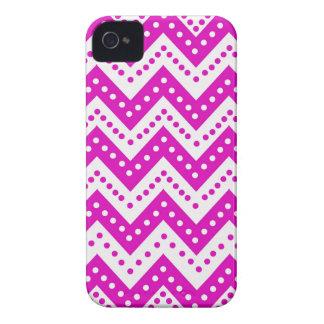 Cute Purple Polkadot Zigzags iPhone 4 Cover