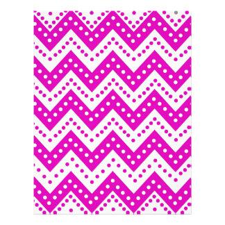 Cute Purple Polkadot Zigzags Letterhead