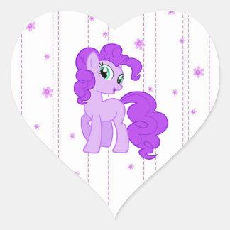 Cute Purple Pony Stickers for Little Girls