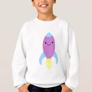 Cute Purple Rocket Ship Sweatshirt