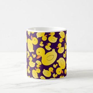 Cute purple rubber ducks coffee mug