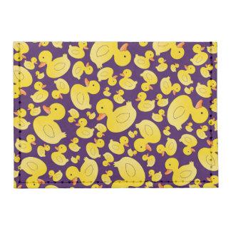 Cute purple rubber ducks tyvek® card wallet