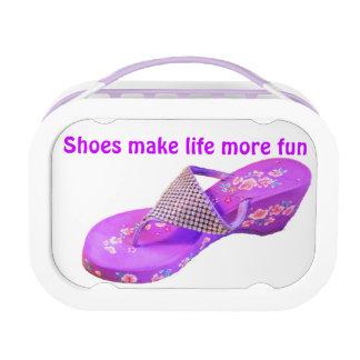 Cute Purple Sandals that Sparkle Lunchboxes