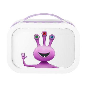 Cute Purple Three-Eyed Alien Lunch Box