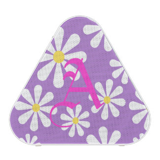 Cute Purple White Yellow Personalized Crazy Daisy Blueooth Speaker