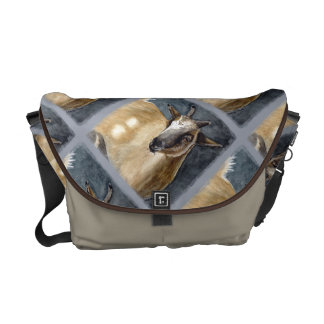 Cute Pygmy Goat Watercolor Artwork Commuter Bag
