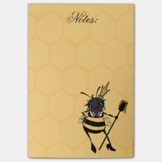 CUTE QUEEN BEE HONEYCOMB PATTERN POST-IT NOTEPAD