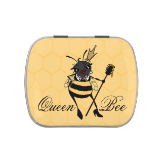 CUTE QUEEN BEE JELLY BEAN CANDY TIN