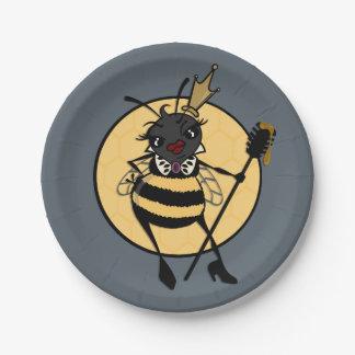 CUTE QUEEN BEE PAPER PLATE