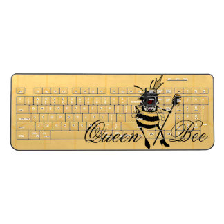 CUTE QUEEN BEE WITH HONEYCOMB COMPUTER KEYBOARD