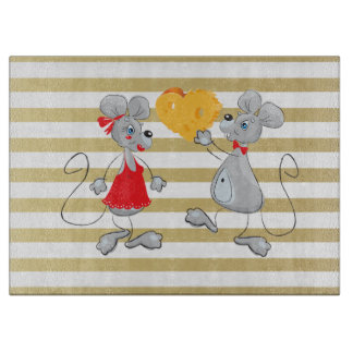 Cute Quirky Whimsical  Mouses-Stripes Boards