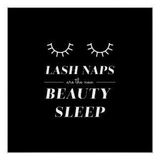 Cute Quote Funny Lash Nap Posters