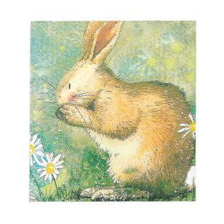 """Cute Rabbit 14cm x15.2cm(5.5""""x6"""") Notepad 40 pages"""