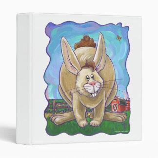Cute Rabbit Animal Parade 3 Ring Binder