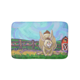 Cute Rabbit Animal Parade Bath Mat