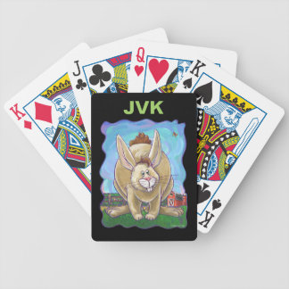 Cute Rabbit Animal Parade Bicycle Playing Cards