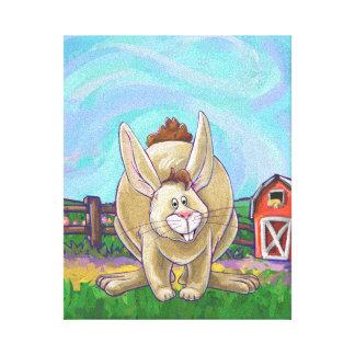 Cute Rabbit Animal Parade Canvas Print