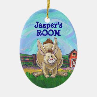 Cute Rabbit Animal Parade Ceramic Ornament