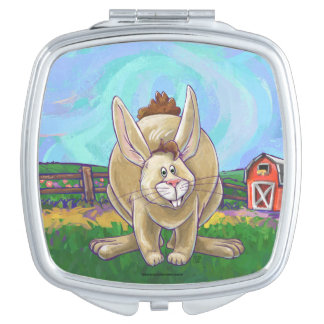 Cute Rabbit Animal Parade Compact Mirrors
