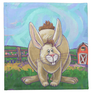 Cute Rabbit Animal Parade Napkin