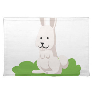 cute rabbit animal placemat
