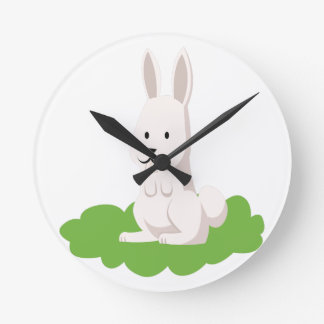 cute rabbit animal wallclocks