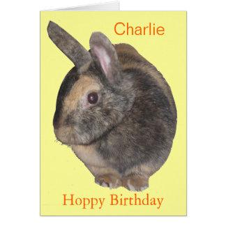 Cute Rabbit Birthday Card