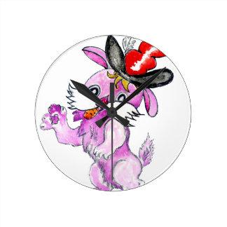 Cute Rabbit Drawing 2 Clocks
