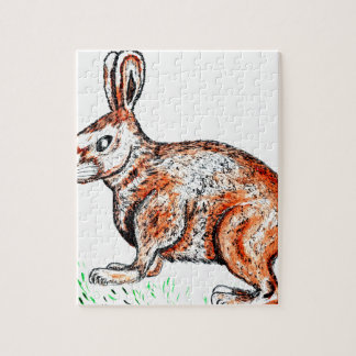 Cute Rabbit Drawing Jigsaw Puzzle