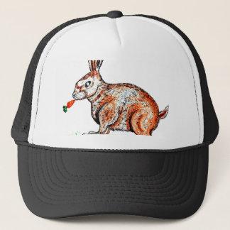 Cute Rabbit Drawing Trucker Hat