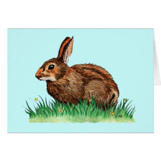 cute rabbit greeting card