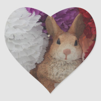 Cute Rabbit Heart Sticker