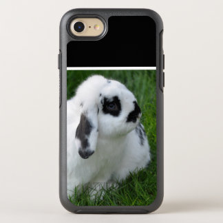 Cute Rabbit on Grass OtterBox Symmetry iPhone 8/7 Case