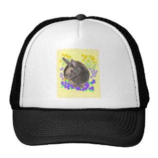 Cute Rabbit Photo and flowers Trucker Hat