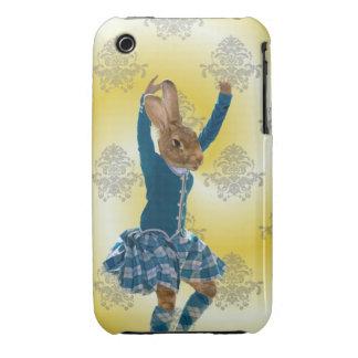 Cute rabbit Scottish highland dancer Case-Mate iPhone 3 Case
