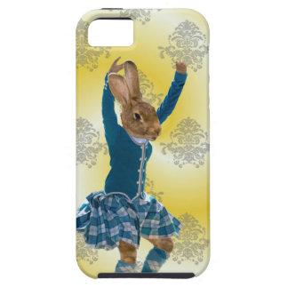 Cute rabbit Scottish highland dancer iPhone 5 Case